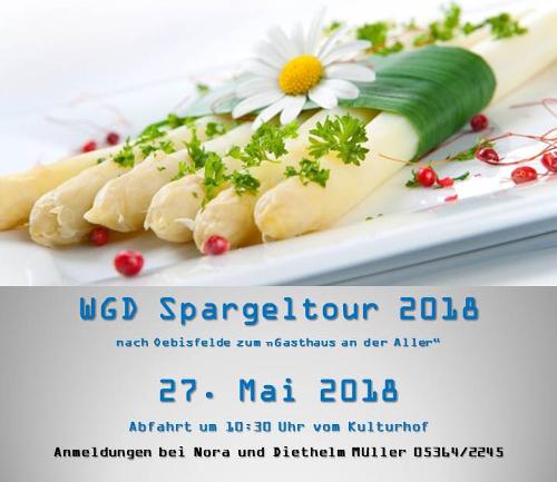 Einladung zur Spargeltour 2018 nach Oebisfelde