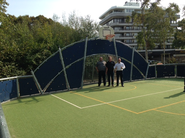 """Ankündigung des Projektes """"Fun-Court"""" in Danndorf"""