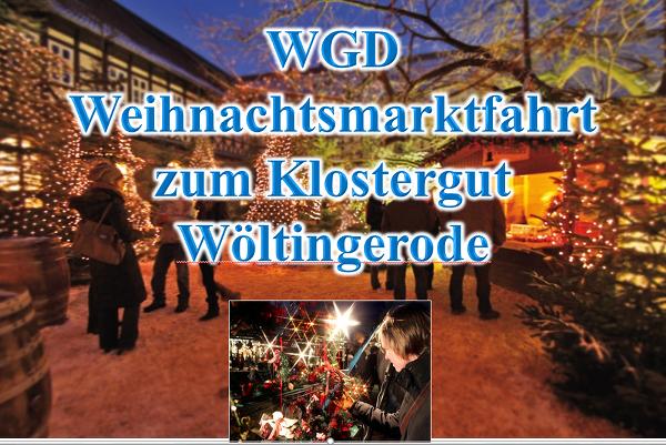 Weihnachtsmarktfahrt zum Klostergut Wöltingerode