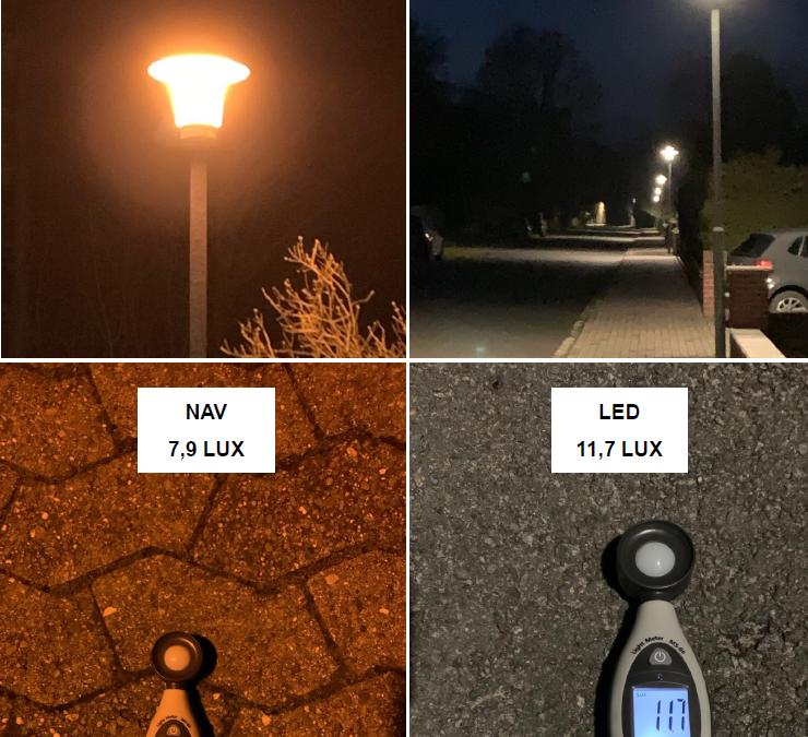 Kosteneinsparung in Danndorf durch LED-Straßenlampen