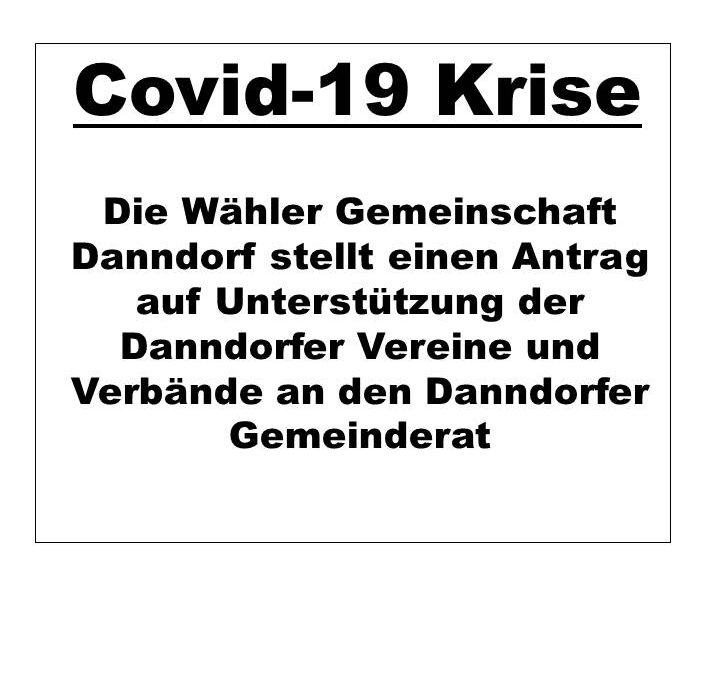 WGD Danndorf stellt Antrag auf Unterstützung der Vereine und Verbände